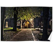 Kings Norton Church At Night Poster