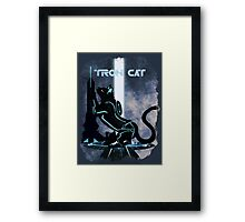 Tron Cat Framed Print
