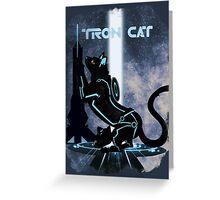 Tron Cat Greeting Card