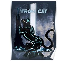 Tron Cat Poster