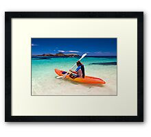 Off to the reef Framed Print