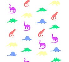 Colourful Dinos Photographic Print
