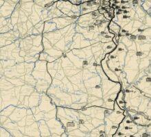 World War II Twelfth Army Group Situation Map November 23 1944 Sticker