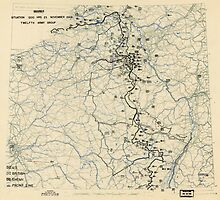 World War II Twelfth Army Group Situation Map November 23 1944 by allhistory