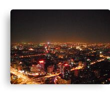 Beijing by night Canvas Print