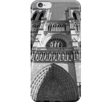 Western Facade of Notre Dame iPhone Case/Skin