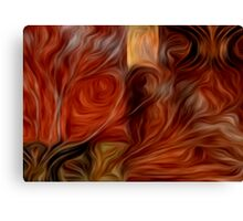 Abstract Colors Oil Painting #4 Canvas Print