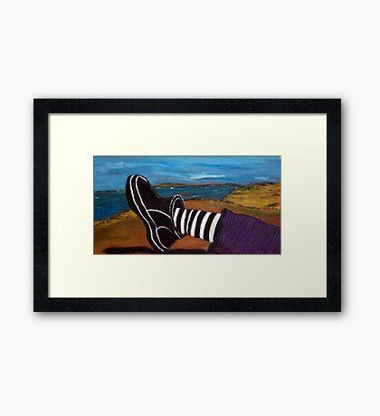 Ferns Foot - plein air 9x5 Framed Print