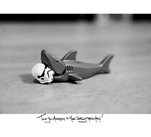 Shaaark! (Handwritten) Photographic Print
