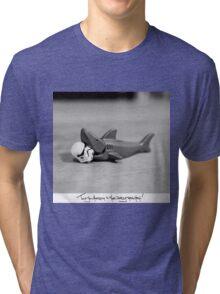 Shaaark! (Handwritten) Tri-blend T-Shirt