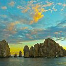 Sunset on Los Cabos by Linda Sparks