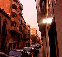 Barcelona Streetview after Rain by KSissy
