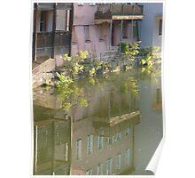 reflex in river Pegnitz Poster