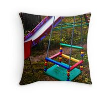Evening on playground 1 Throw Pillow