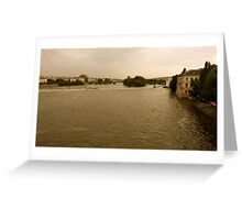 Danube river in Prague Greeting Card