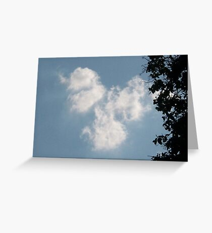 Angels Watching Over Us Greeting Card