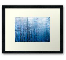 Blue Ice Reflexion Framed Print