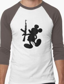 Mickey Mouse and the AK-47 Men's Baseball ¾ T-Shirt