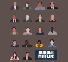 Dunder Mifflin Employee Headshots Baby Tee