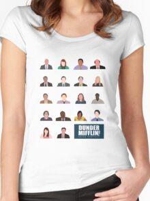 Dunder Mifflin Employee Headshots Women's Fitted Scoop T-Shirt