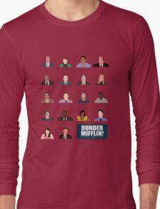 Dunder Mifflin Employee Headshots Long Sleeve T-Shirt