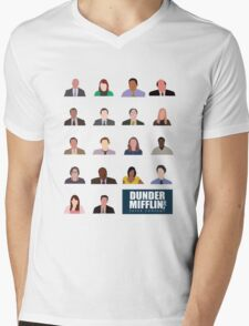 Dunder Mifflin Employee Headshots Mens V-Neck T-Shirt
