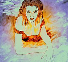 Let me be your Angel-keeper of your heart. by Renate  Dartois