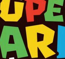SUPER MARIO LOGO Sticker