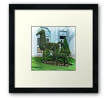 Horse Topiary Framed Print