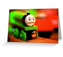 Go, Green Engine Greeting Card