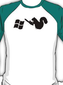 Squirrels don't like Windows T-Shirt