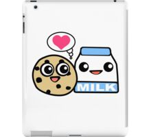 Cookie and milk geek funny nerd iPad Case/Skin