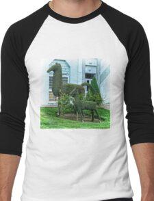 Horse Topiary Men's Baseball ¾ T-Shirt