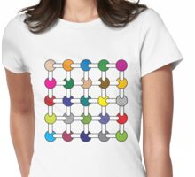 Optical Illusion Colour Spots Womens Fitted T-Shirt