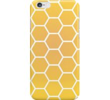 Yellow Honeycomb Gradient Design iPhone Case/Skin