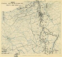 World War II Twelfth Army Group Situation Map October 16 1944 by allhistory
