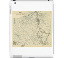 World War II Twelfth Army Group Situation Map October 16 1944 iPad Case/Skin