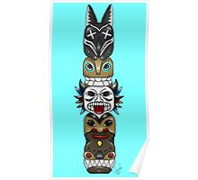 Colourful and Playful Totem Pole Poster