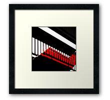 Shadowplay in red, white & black Framed Print