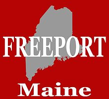 Freeport Maine State City and Town Pride  by KWJphotoart