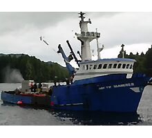 Salmon Boat Photographic Print