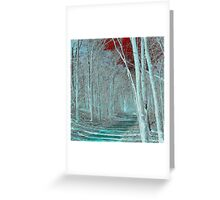 Blue forest walk Greeting Card