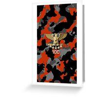 Orange Camouflage Greeting Card
