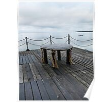 Table on the pier Poster