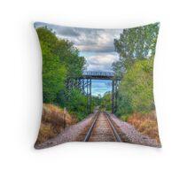 Under The Old Bridge Throw Pillow