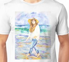 Barefoot On The Beach. Unisex T-Shirt