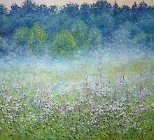 Misty summer night by Julia Lesnichy