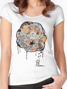 Music, What does it make you think of? Women's Fitted Scoop T-Shirt