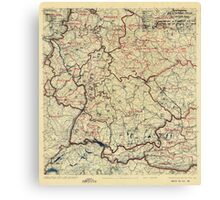 World War II Twelfth Army Group Situation Map July 26 1945 Canvas Print