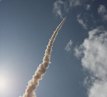 Rocket Launch 2 - skywards by Peter Barrett
